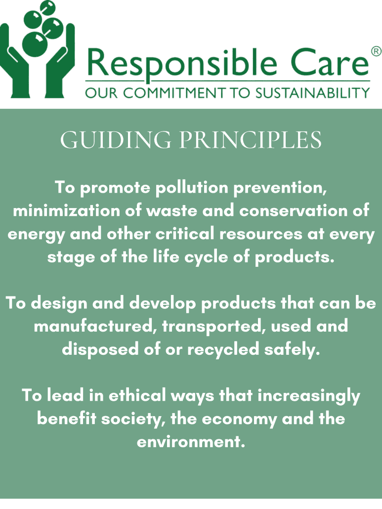 guiding principles: to promote pollution prevention, to design and develop products that can be recycled, to lead in ethical ways that benefit society, the economy, and the environment