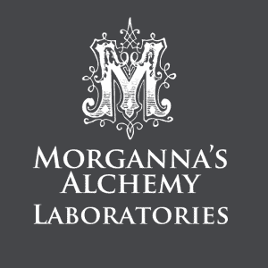 Morgannas Alchemy logo in white